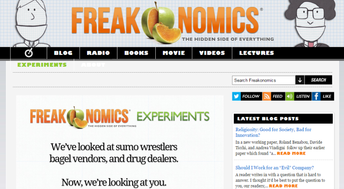 Freakonomics Experiments