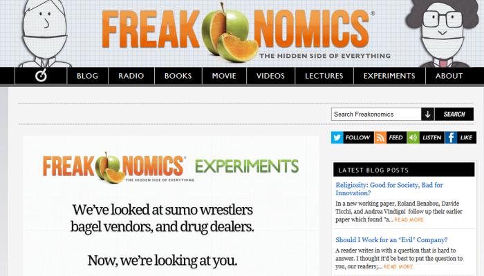 Freakonomics IE Firefox